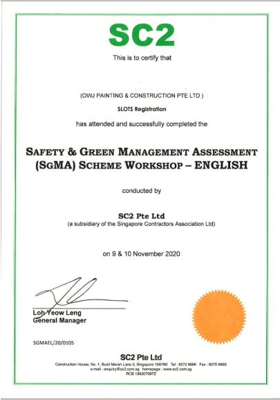 Safety and Green Management for painting service